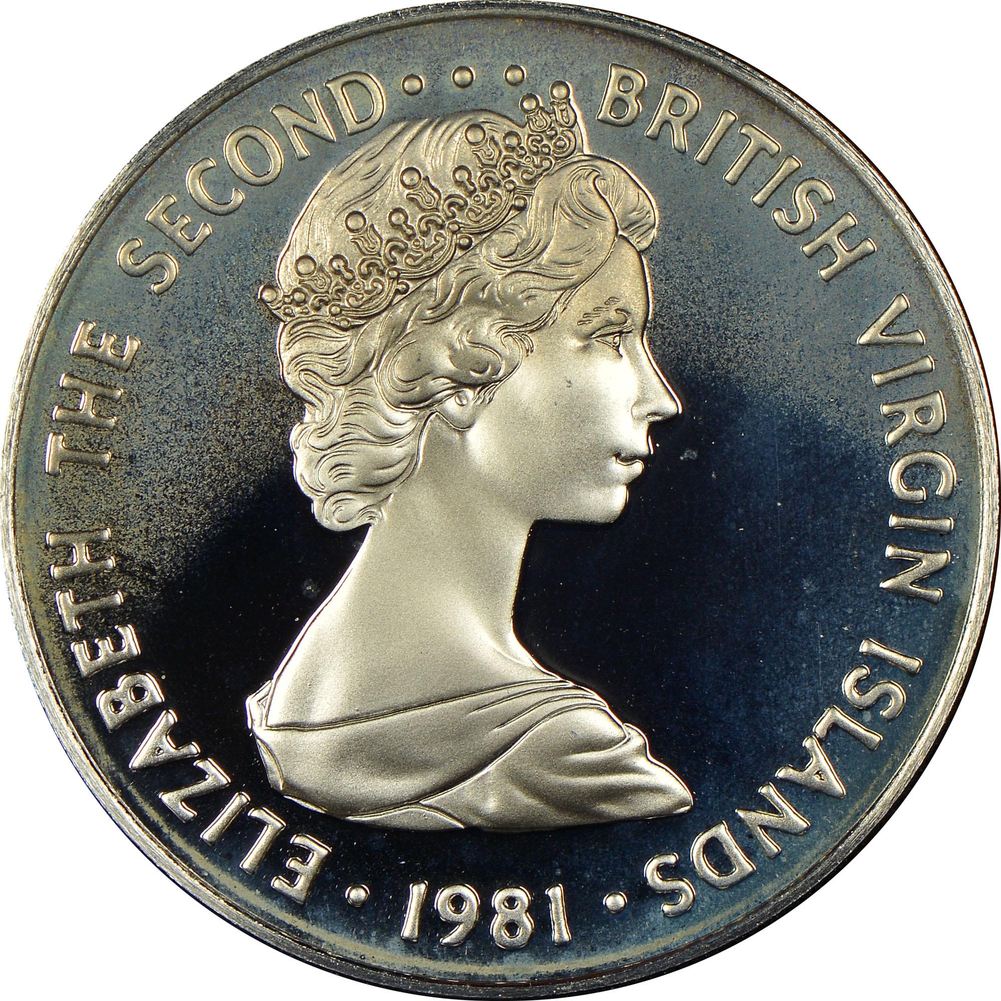 1973-1984 British Virgin Islands 25 Cents obverse