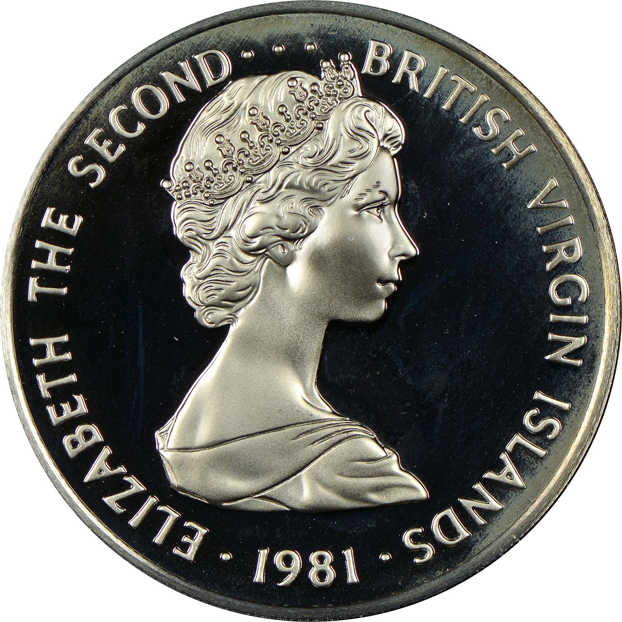 1973-1984 British Virgin Islands 50 Cents obverse