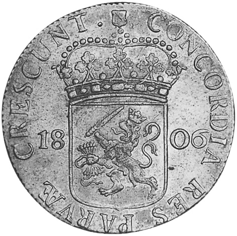 Netherlands Rijksdaalder reverse