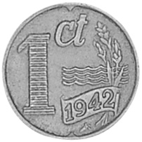 Netherlands Cent reverse