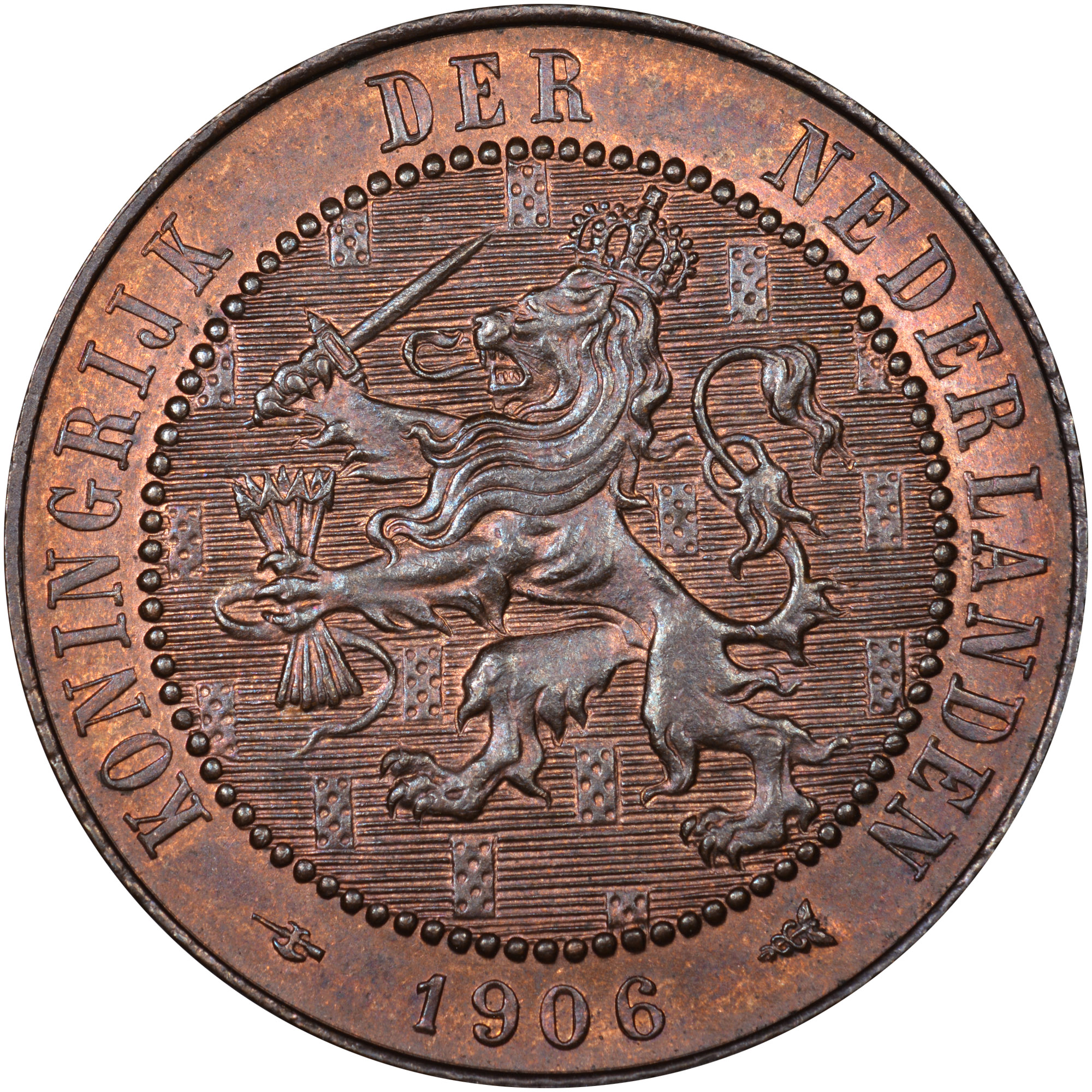 Netherlands 2-1/2 Cent obverse