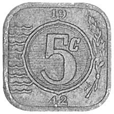Netherlands 5 Cents reverse