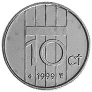 Netherlands 10 Cents reverse