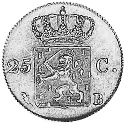 Netherlands 25 Cents reverse