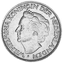 Netherlands 25 Cents obverse