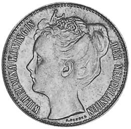 Netherlands 1/2 Gulden obverse
