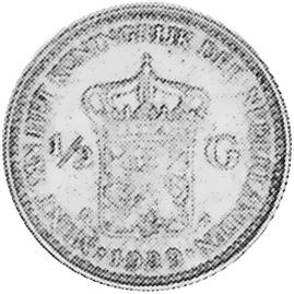 Netherlands 1/2 Gulden reverse
