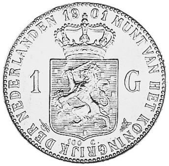 Netherlands Gulden reverse