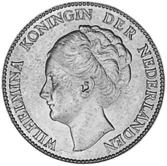 1922-1944 Netherlands Gulden obverse