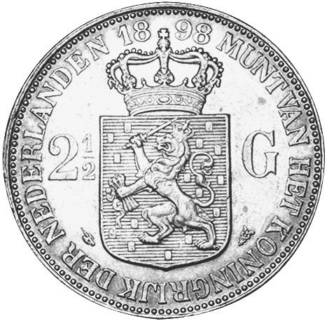 Netherlands 2-1/2 Gulden reverse