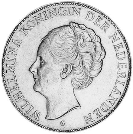 Netherlands 2-1/2 Gulden obverse