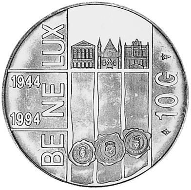 Netherlands 10 Gulden reverse