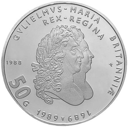 Netherlands 50 Gulden reverse