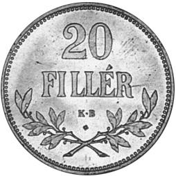 Hungary 20 Fillér reverse