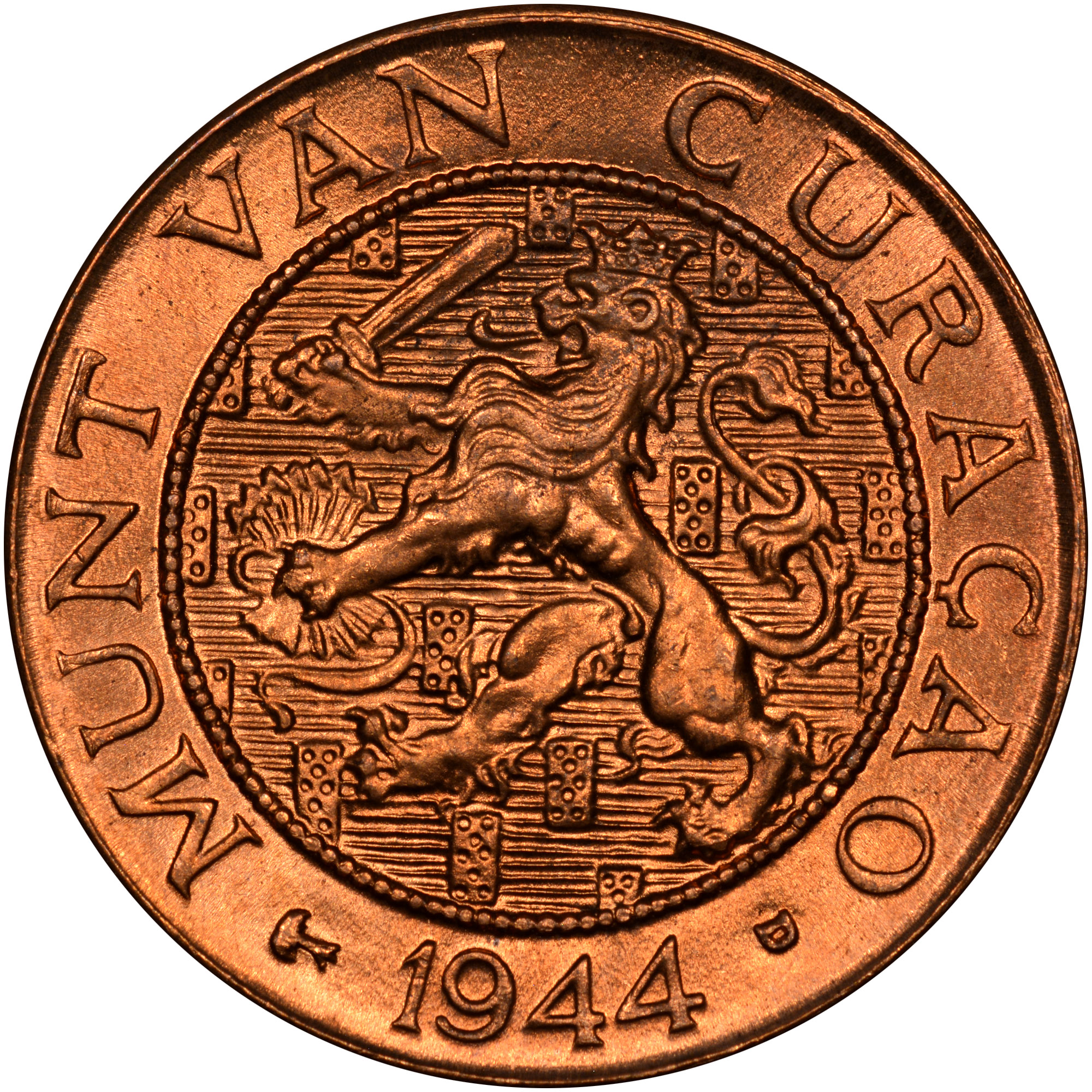 1944-1947 Curacao Cent obverse