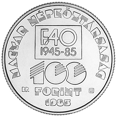 Hungary 100 Forint obverse