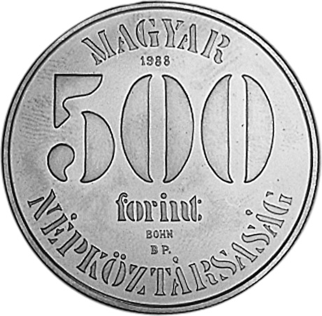 Hungary 500 Forint obverse