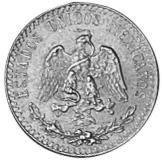 1919 Mexico 20 Centavos obverse