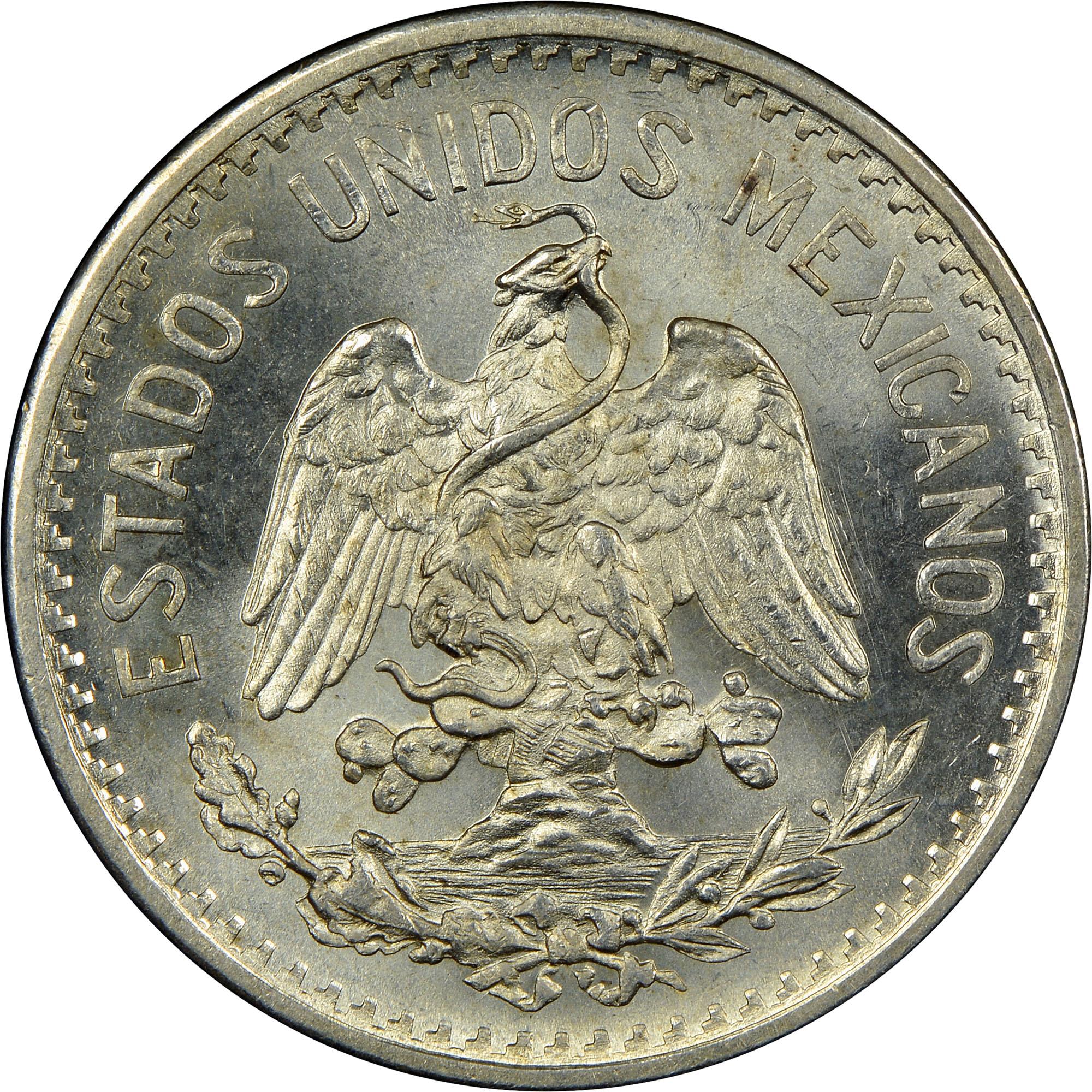 1905-1918 Mexico 50 Centavos obverse