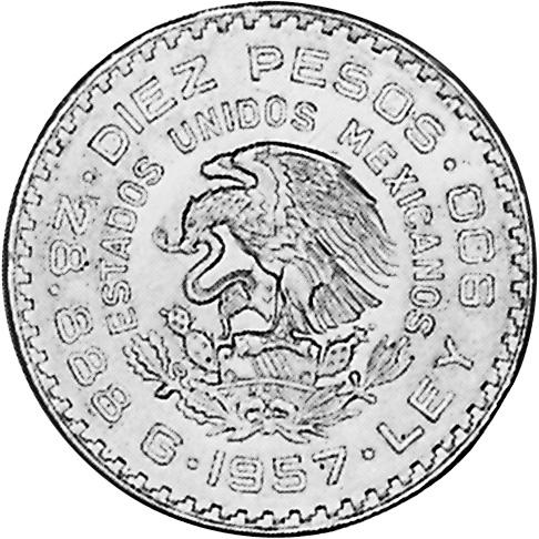Mexico Estados Unidos Mexicanos 10 Pesos Km 475 Prices Values Ngc