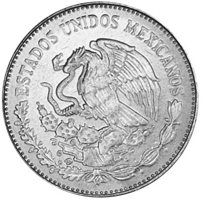 1980-1984 Mexico 20 Pesos obverse
