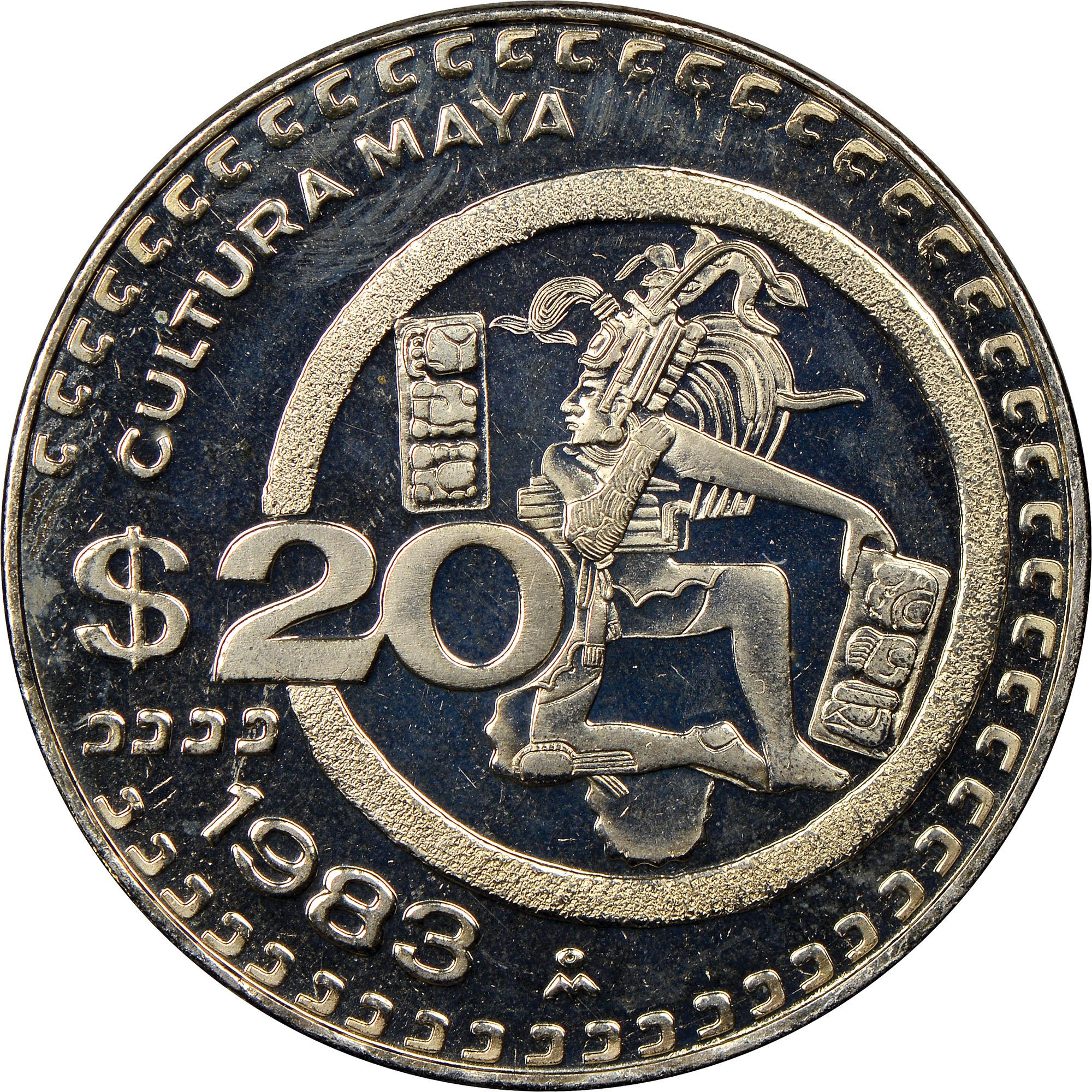 Mexico ESTADOS UNIDOS MEXICANOS 20 Pesos reverse
