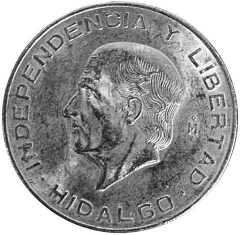 Mexico ESTADOS UNIDOS MEXICANOS 10 Pesos reverse