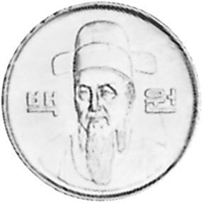 1983 Korea-South 100 Won obverse