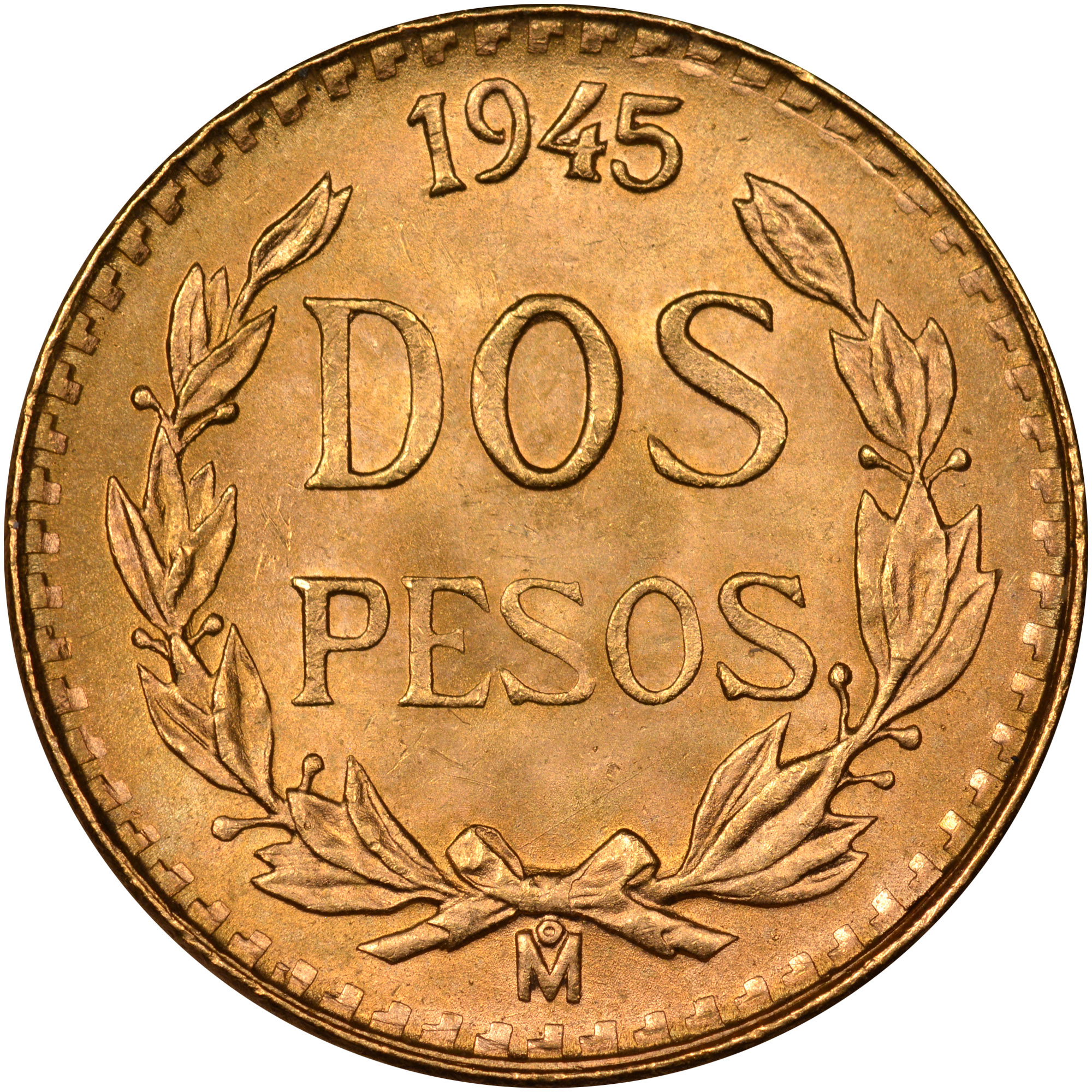 Mexico ESTADOS UNIDOS MEXICANOS 2 Pesos reverse