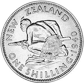 1937-1946 New Zealand Shilling reverse