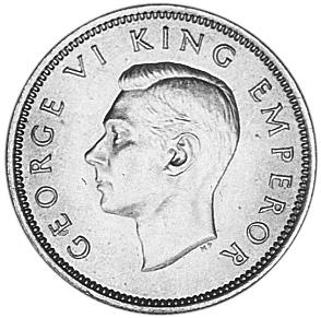 1937-1946 New Zealand Shilling obverse