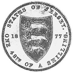Jersey 1/48 Shilling reverse