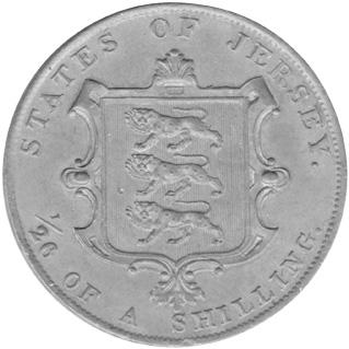 Jersey 1/26 Shilling reverse