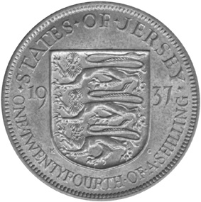 Jersey 1/24 Shilling reverse