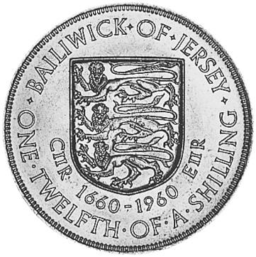 Jersey 1/12 Shilling reverse