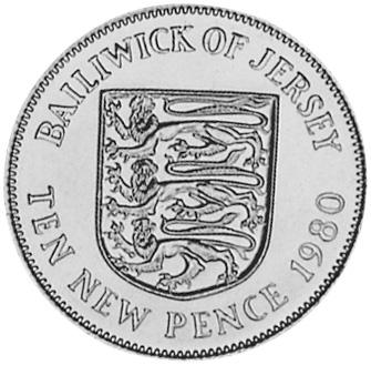 Jersey 10 New Pence reverse