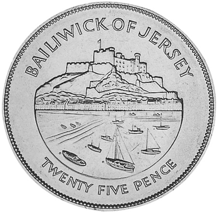 Jersey 25 Pence reverse