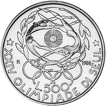 Italy 500 Lire reverse