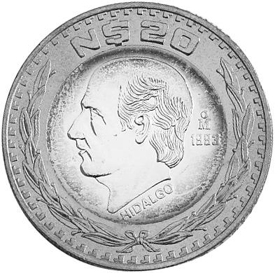 Mexico ESTADOS UNIDOS MEXICANOS 20 Nuevos Pesos reverse