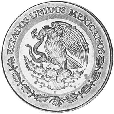 1993-1995 Mexico 20 Nuevo Pesos obverse