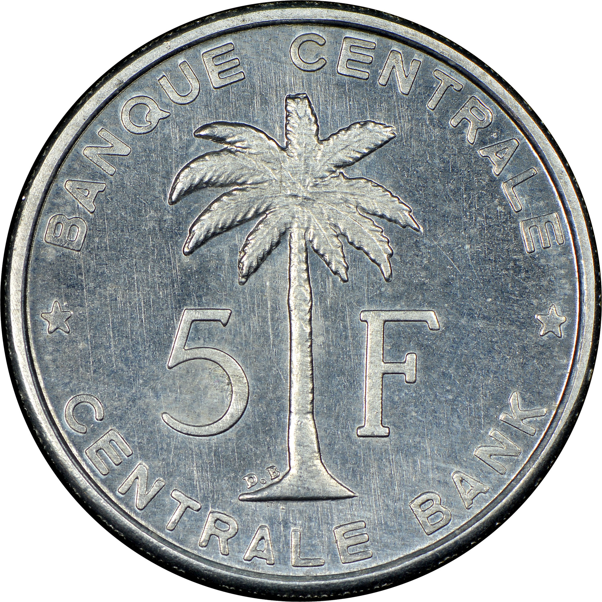 Belgian Congo RUANDA-URUNDI 5 Francs reverse