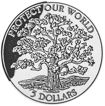 Niue 5 Dollars reverse