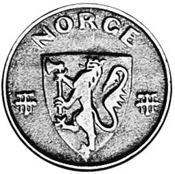 Norway 2 Øre obverse