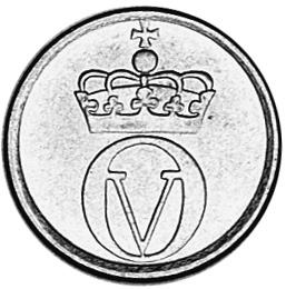 1959-1972 Norway 2 Ore obverse