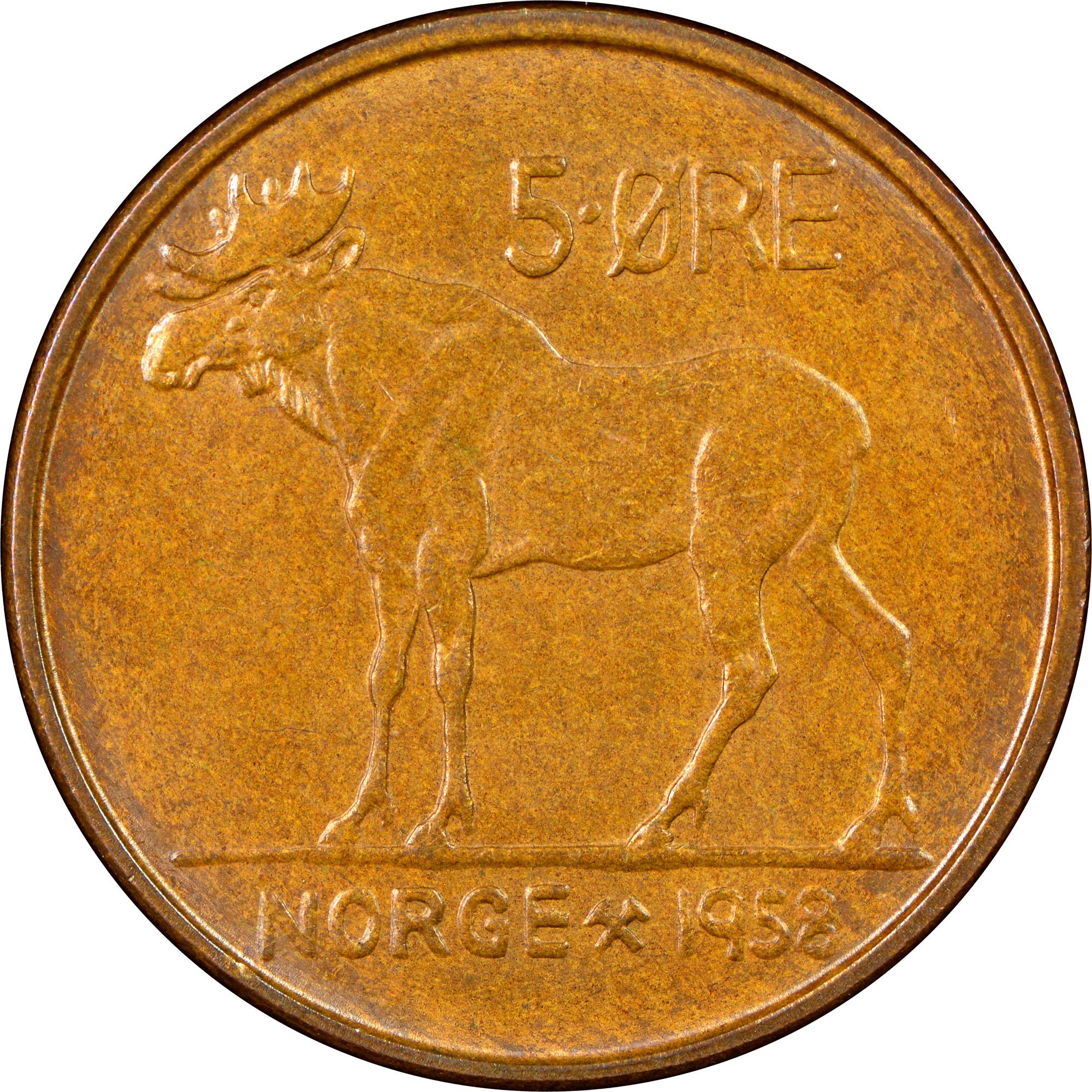NORWAY   5 Ore   1963   *