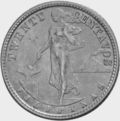 Philippines 20 Centavos obverse
