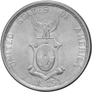 1944-1945 Philippines 50 Centavos reverse
