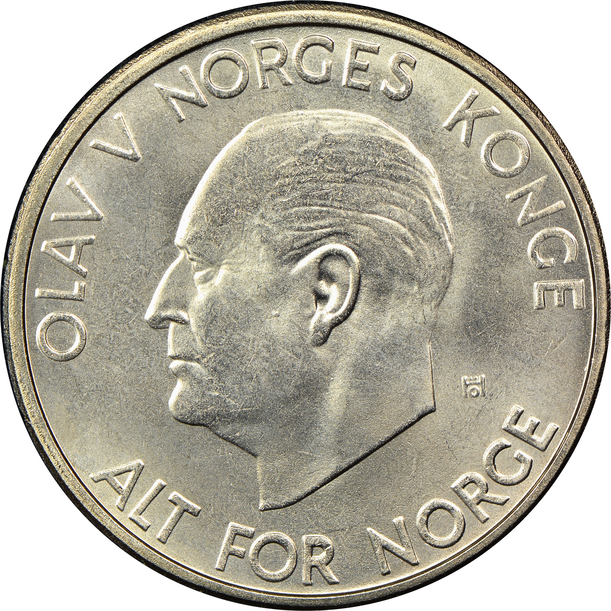 1963-1973 Norway 5 Kroner obverse