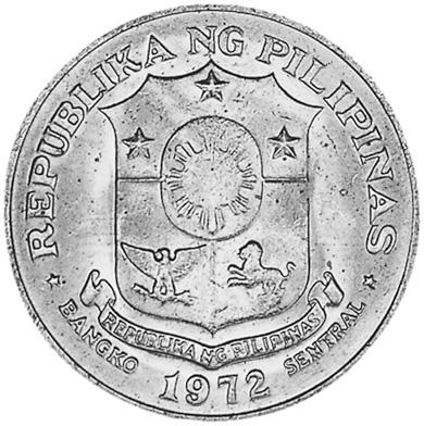 1972-1974 Philippines Piso obverse