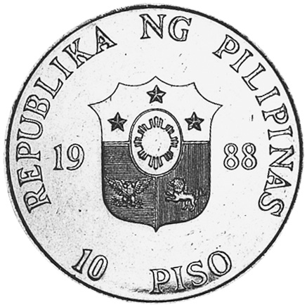 Philippines 10 Piso obverse